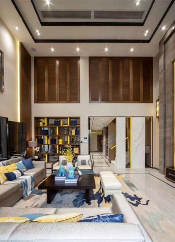 客厅茶几中式风格装潢设计图片