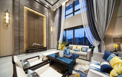 中式风格320平米别墅室内装修效果图