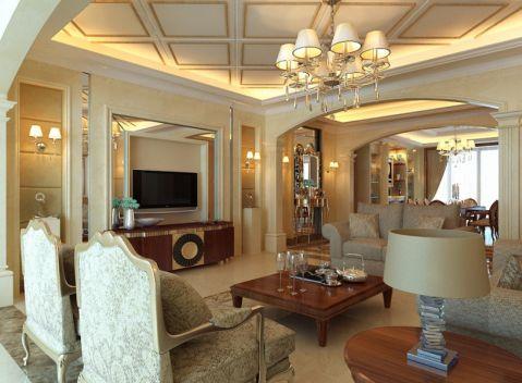 简欧风格140平米大户型室内装修效果图