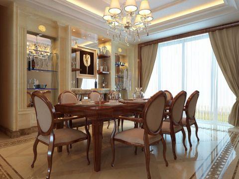 餐厅窗帘简欧风格装潢效果图