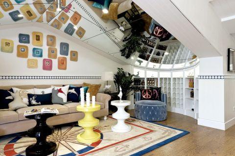 客厅照片墙地中海风格装饰效果图