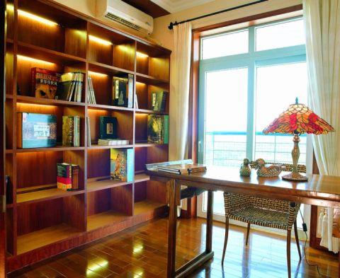 书房窗帘新中式风格装修设计图片