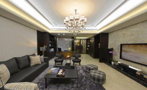 客厅茶几现代简约风格装饰图片