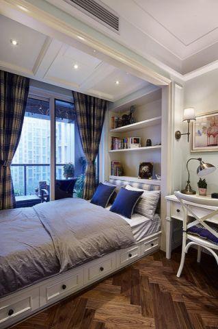 卧室榻榻米美式风格装潢效果图