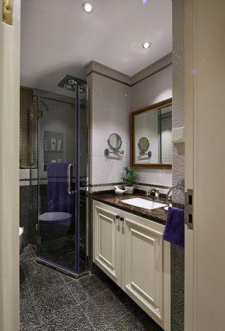 卫生间洗漱台美式风格装修图片