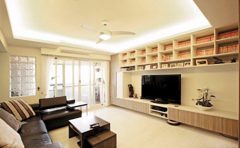 北欧风格90平米三室两厅新房装修效果图