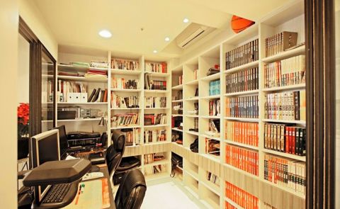 书房吊顶北欧风格装修设计图片