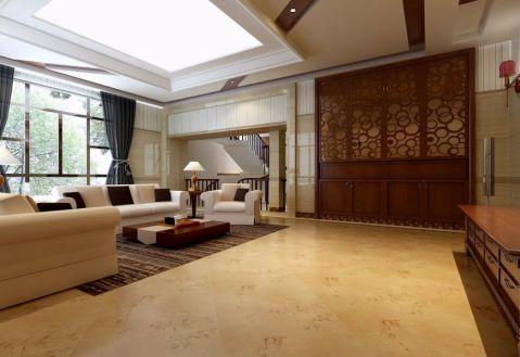 客厅地砖新中式风格装饰效果图