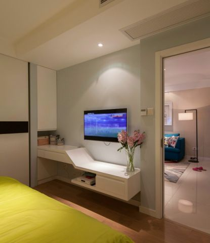 卧室电视柜简约风格装修图片