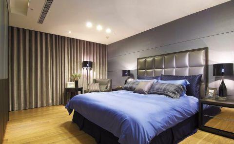 卧室床后现代风格装饰图片