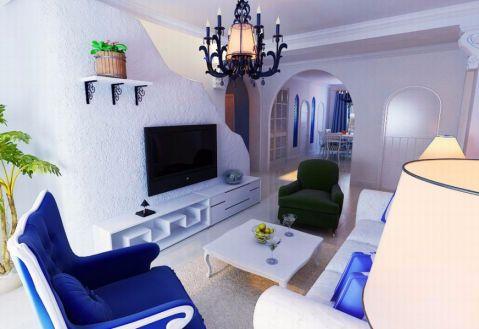 地中海风格130平米复式楼室内装修效果图