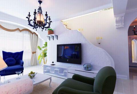 客厅茶几地中海风格装修效果图