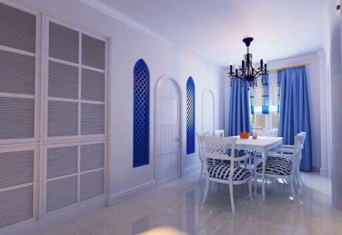 餐厅窗帘地中海风格装修图片