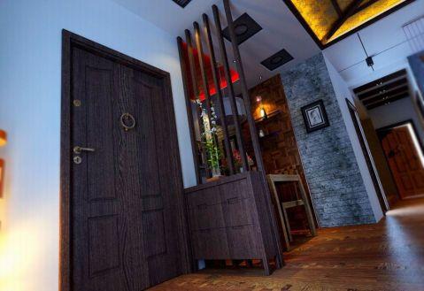 玄关隔断混搭风格装潢设计图片