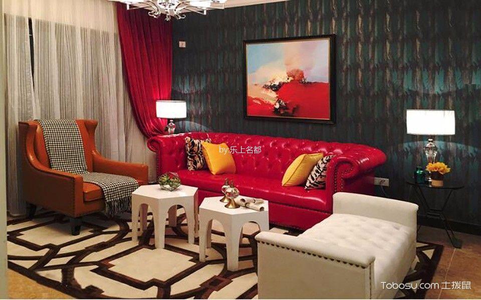 欧式田园风格100平米两室两厅新房装修效果图