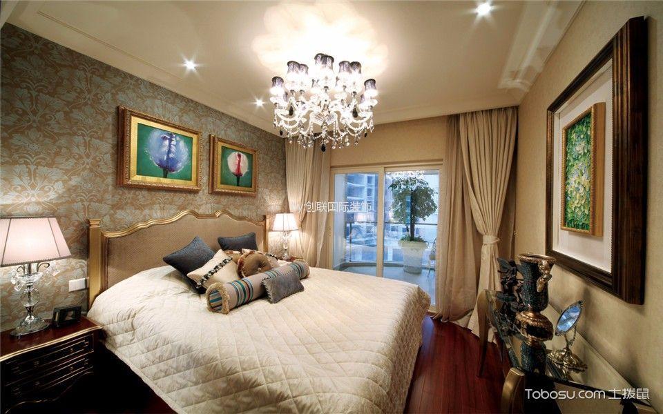 卧室 照片墙_欧式风格140平米三室两厅新房装修效果图