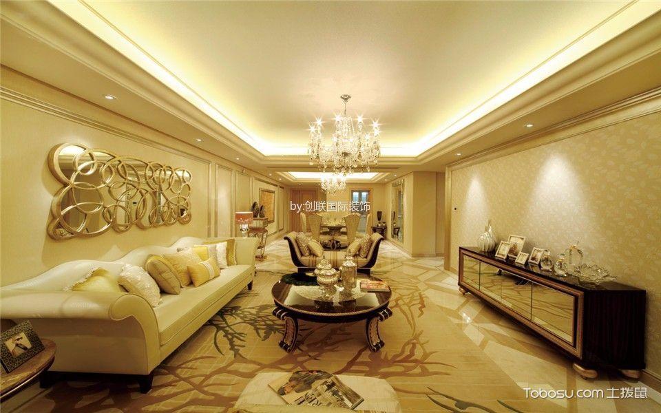 欧式风格160平米四室两厅室内装修效果图