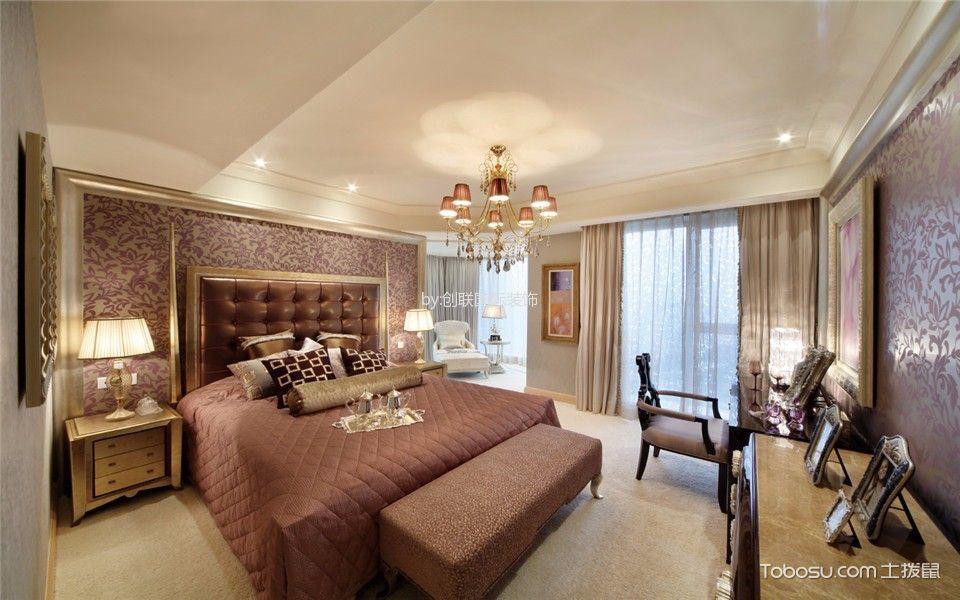 卧室 床_欧式风格160平米四室两厅室内装修效果图