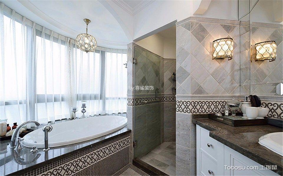 卫生间白色吊顶现代简约风格装潢设计图片