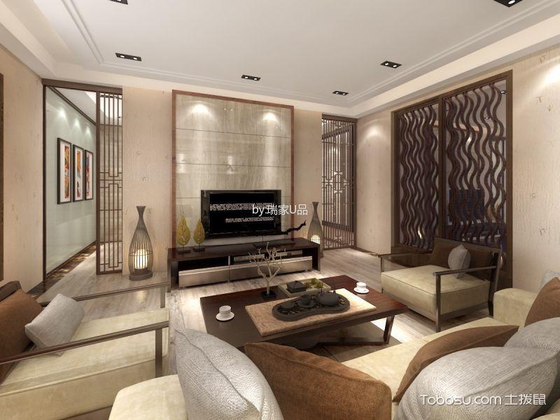 新中式风格460平米别墅新房装修效果图