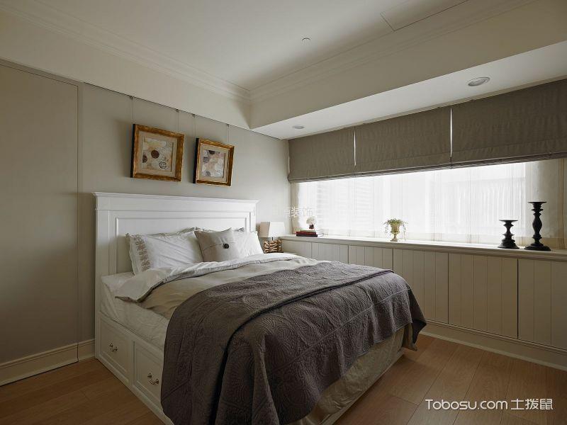 卧室灰色照片墙美式风格装饰效果图