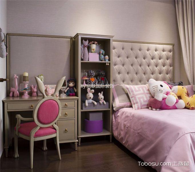 卧室米色梳妆台简欧风格装修图片