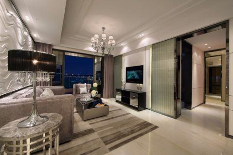 现代风格115平米三室两厅新房装修效果图