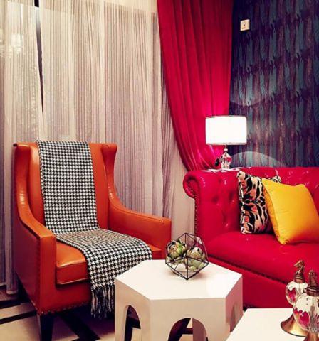 客厅沙发欧式田园风格装修设计图片