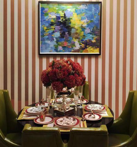 餐厅照片墙欧式田园风格装饰设计图片