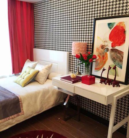 卧室背景墙欧式田园风格效果图