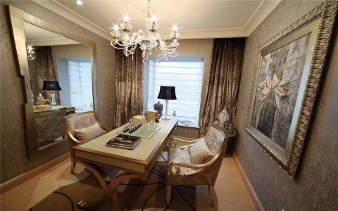 书房书桌欧式风格装修设计图片