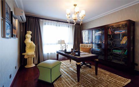 书房博古架欧式风格装饰设计图片