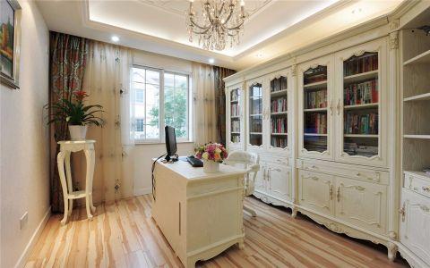 书房书桌欧式风格装修图片