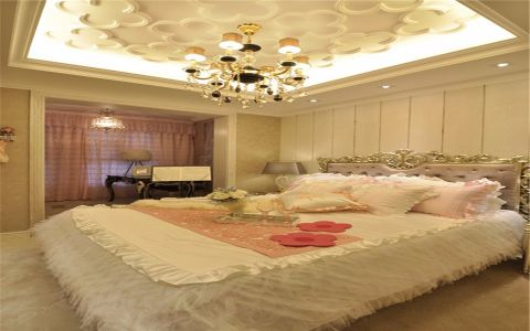 卧室背景墙欧式风格装修设计图片