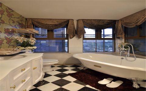卫生间窗帘欧式风格装饰设计图片