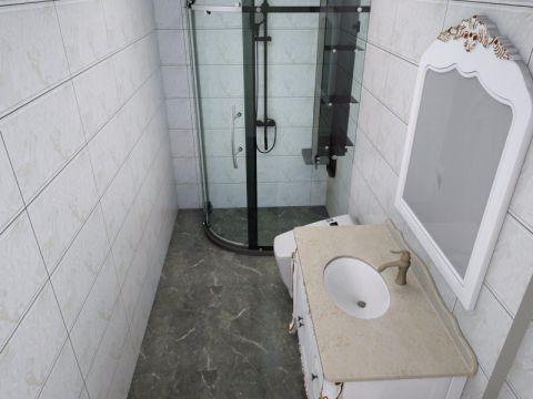 卫生间洗漱台欧式风格装潢效果图