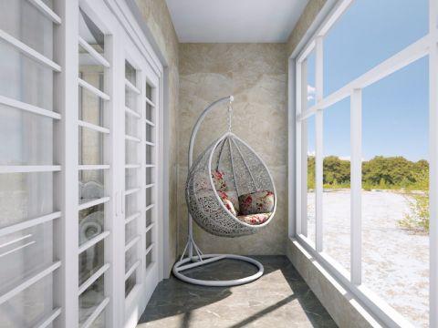 阳台地砖欧式风格装潢图片
