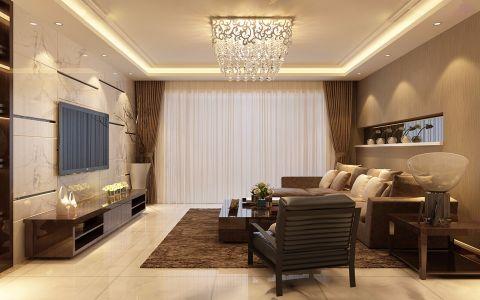 欧式风格134平米三室两厅室内装修效果图