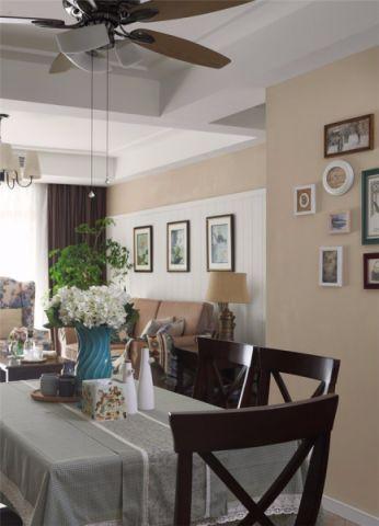 餐厅照片墙美式风格装潢图片