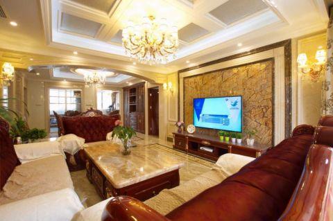 欧式风格154平米大户型新房装修效果图