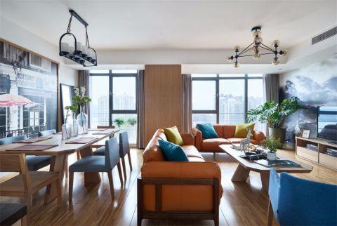 北欧风格130平米公寓新房装修效果图