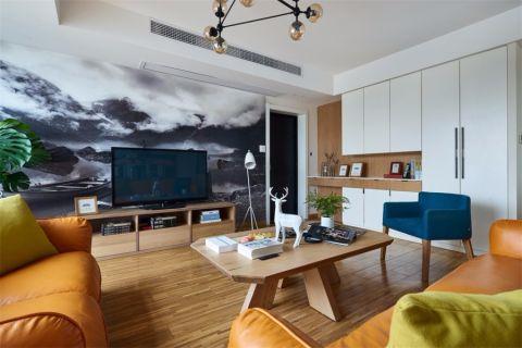 客厅电视柜北欧风格装修设计图片