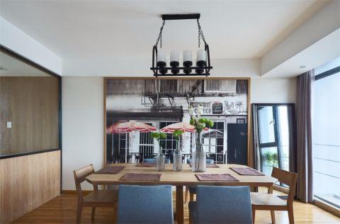 餐厅窗帘北欧风格装饰设计图片