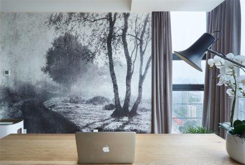 书房窗帘北欧风格装饰效果图
