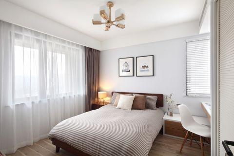 卧室窗帘日式风格装潢效果图