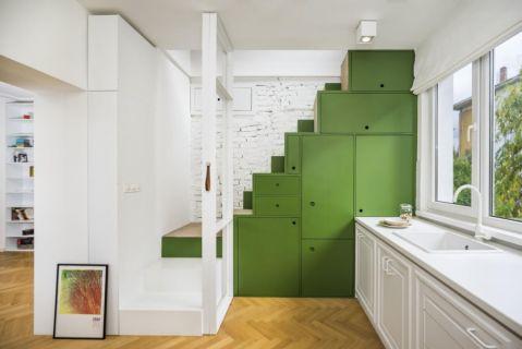 厨房楼梯现代风格装潢设计图片