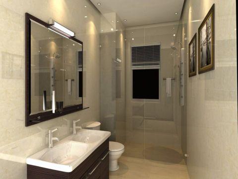 卫生间洗漱台简约风格装潢效果图