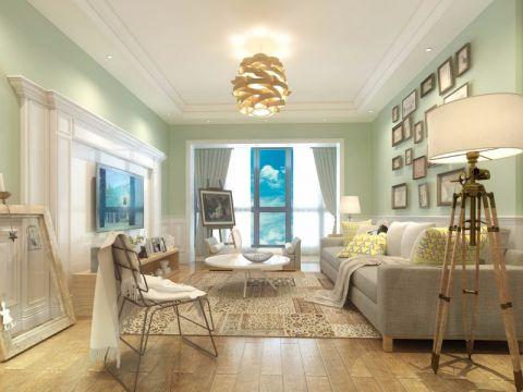 田园风格110平米三室两厅新房装修效果图