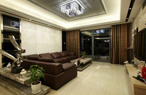 客厅窗帘现代风格装饰设计图片