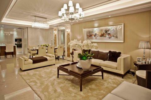 现代简约风格118平米三室两厅室内装修效果图